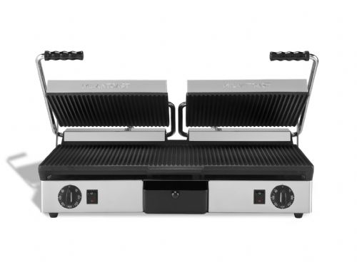 Maestrowave MEMT16052X Ribbed top and flat bottom cast iron plates